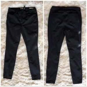 Pacsun Skinny High Waisted Lace Up Black Jeans